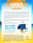 Multipure's Summer Promo – Get A FREE Water Emergency Treatment System